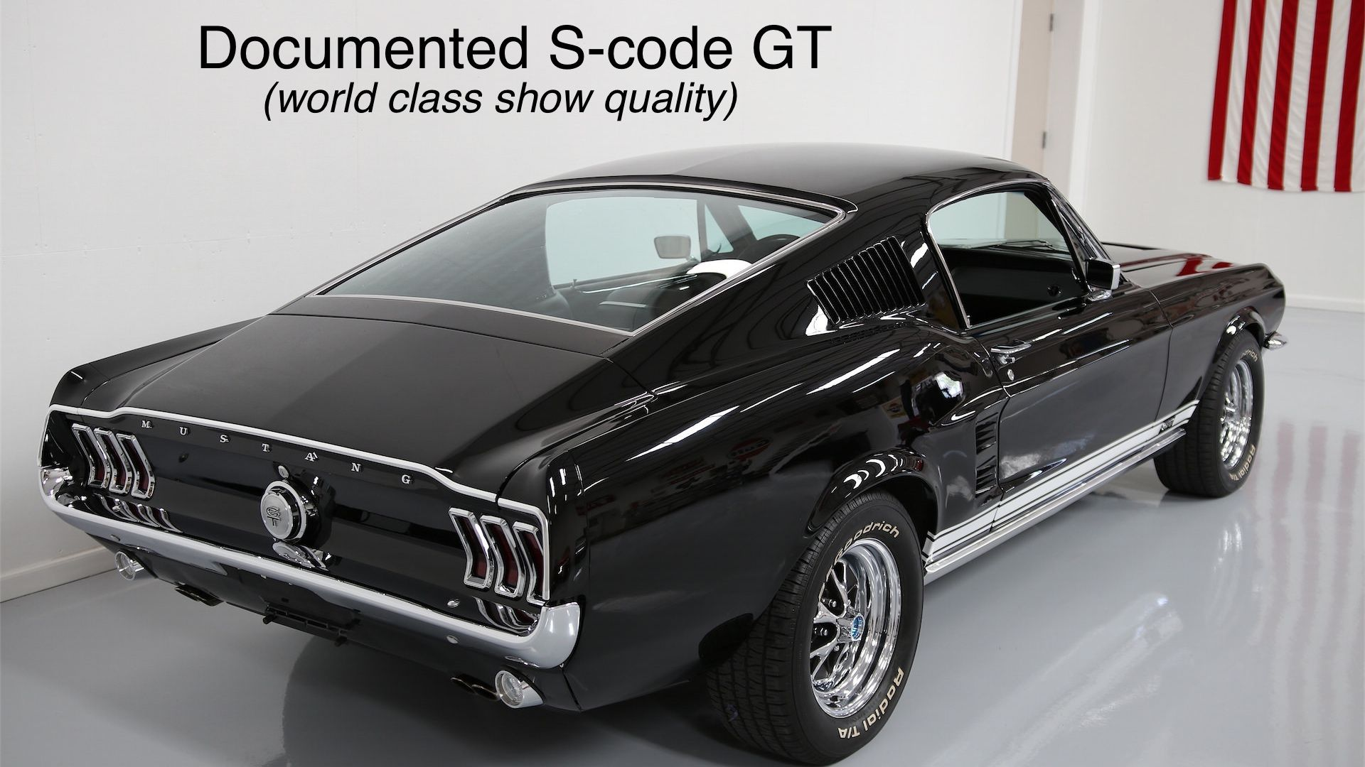 Black 1967 Ford Mustang This 67 Fastback Mustang In Black And