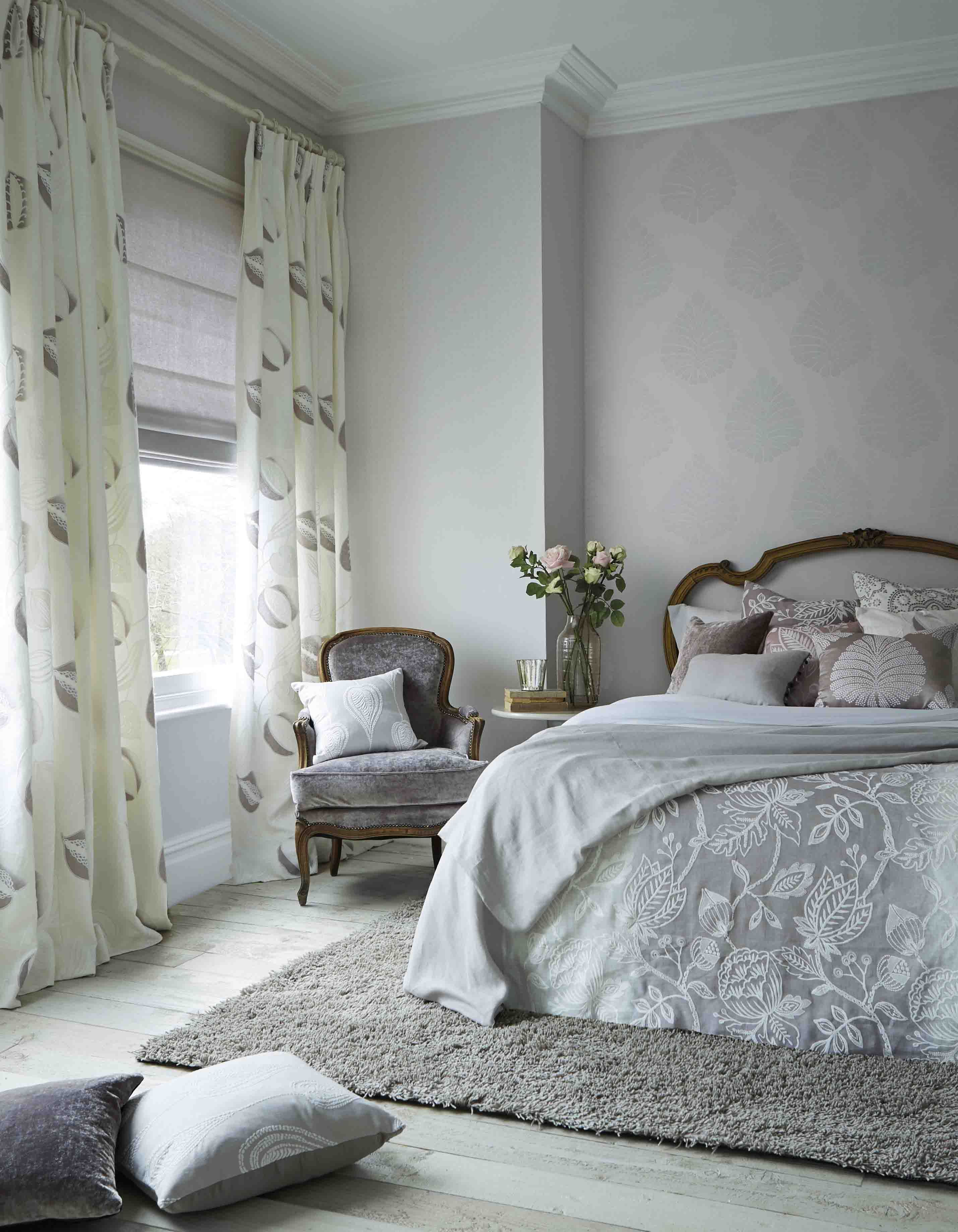 Create A Tranquil, French Styled Bedroom With Harlequins Purity Fabric