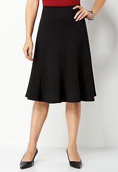 1cbf8adb99 Petite Seamed Ponte Skirt, 9-0036042028, Petite Seamed Ponte Skirt Main  View PGP