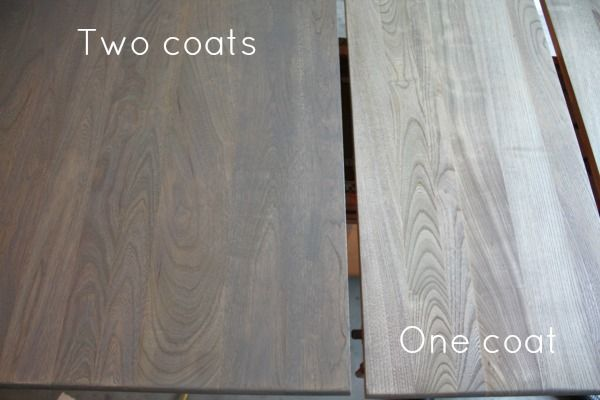 How To Refinish A Table Sand And Sisal Staining Wood Gray Stained Wood Grey Stained Wood