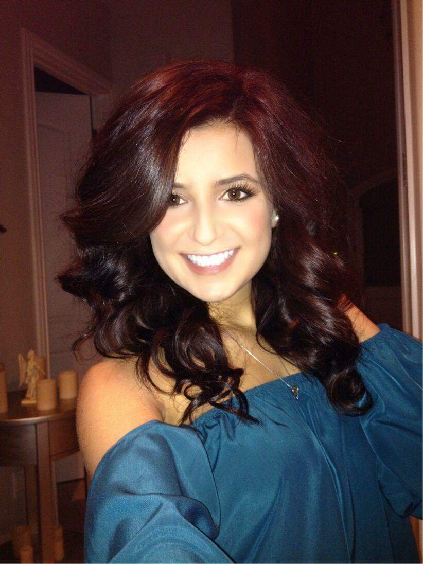 Red Violet Chocolate Brown Hair