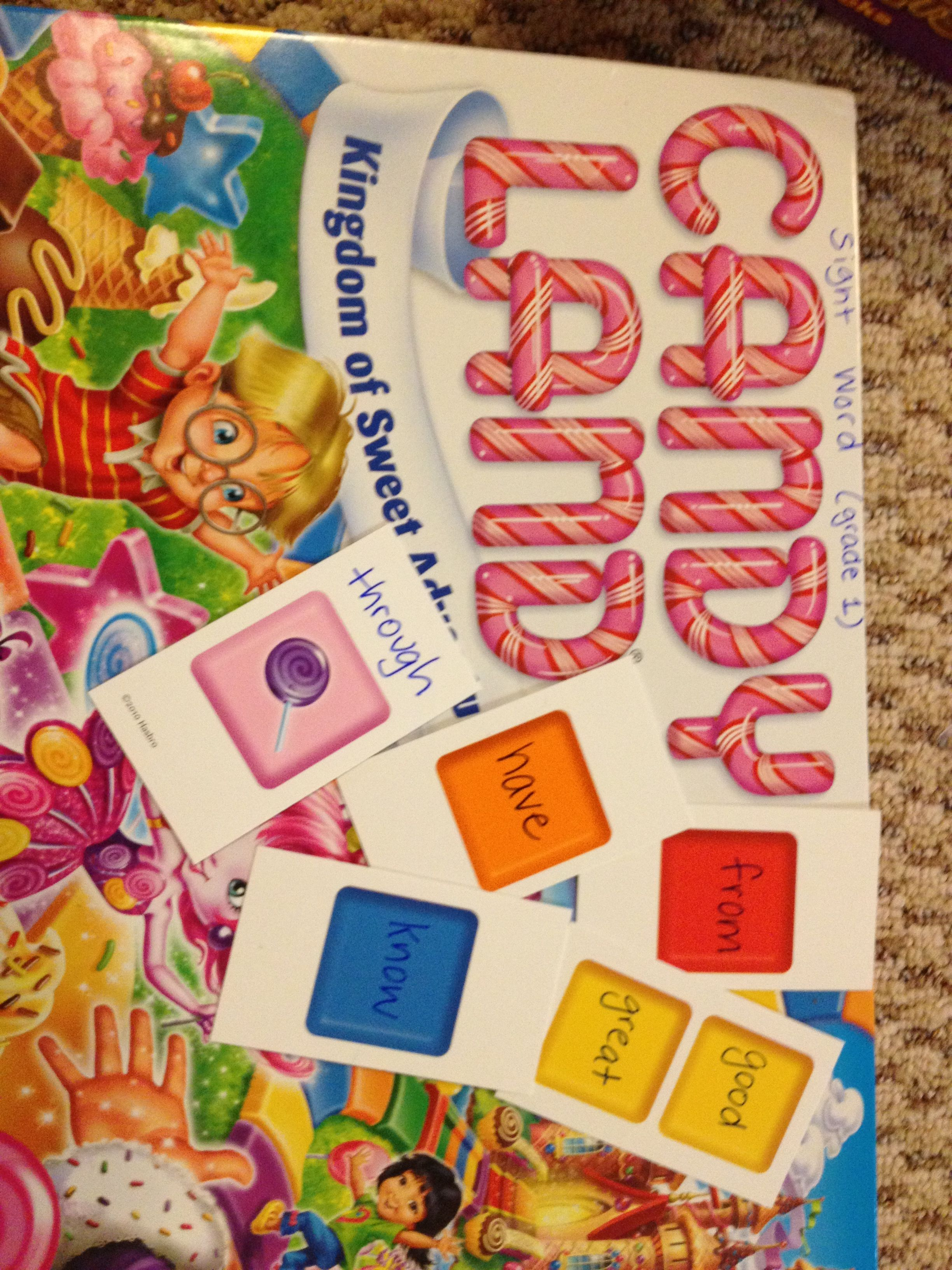 Sight Word Candy Land 1st Grade Words