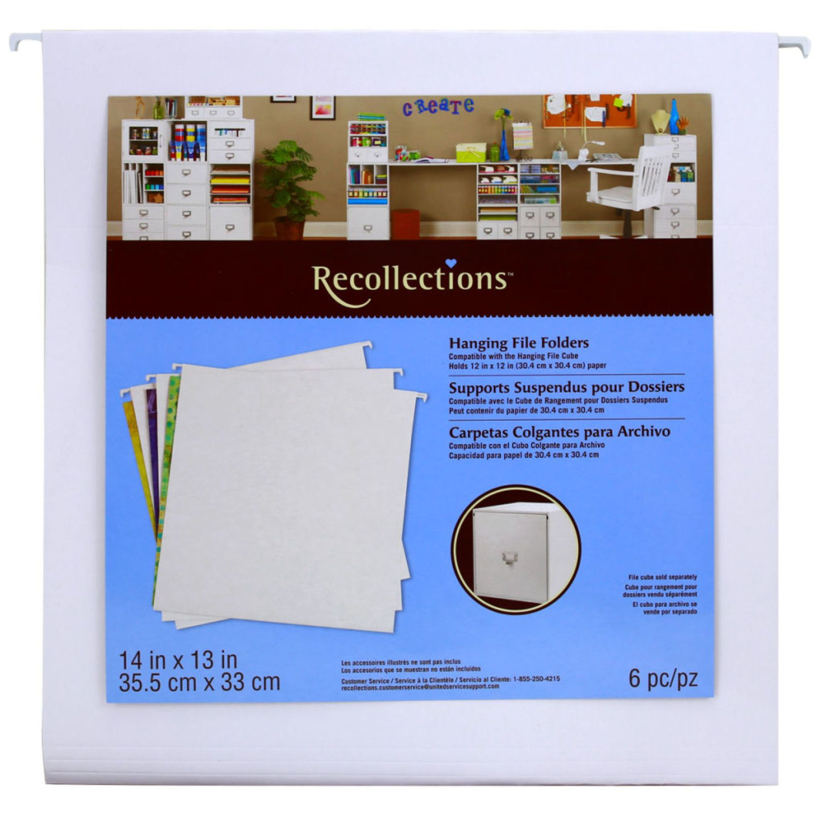 Recollections Hanging File Cube Folders 14 X 13 6
