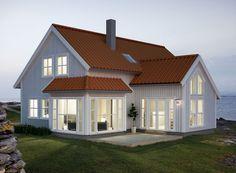 pbygg hus bilder tilbygg on pinterest modern farmhouse built in bookcase and - Moderne Huser 2015