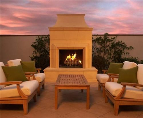 Outdoor fireplace kit prefabricated house pinterest for Precast concrete outdoor fireplace kits