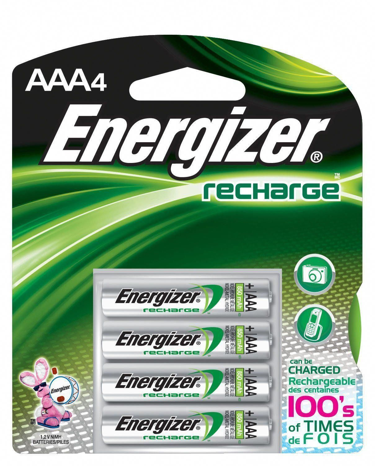 On Sale Brand New 100 Authentic Never Opened Energizer Aaa Rechargable Batteries 2 Packages 4 Pack 8 Tota Rechargeable Batteries Nimh Battery Recharge