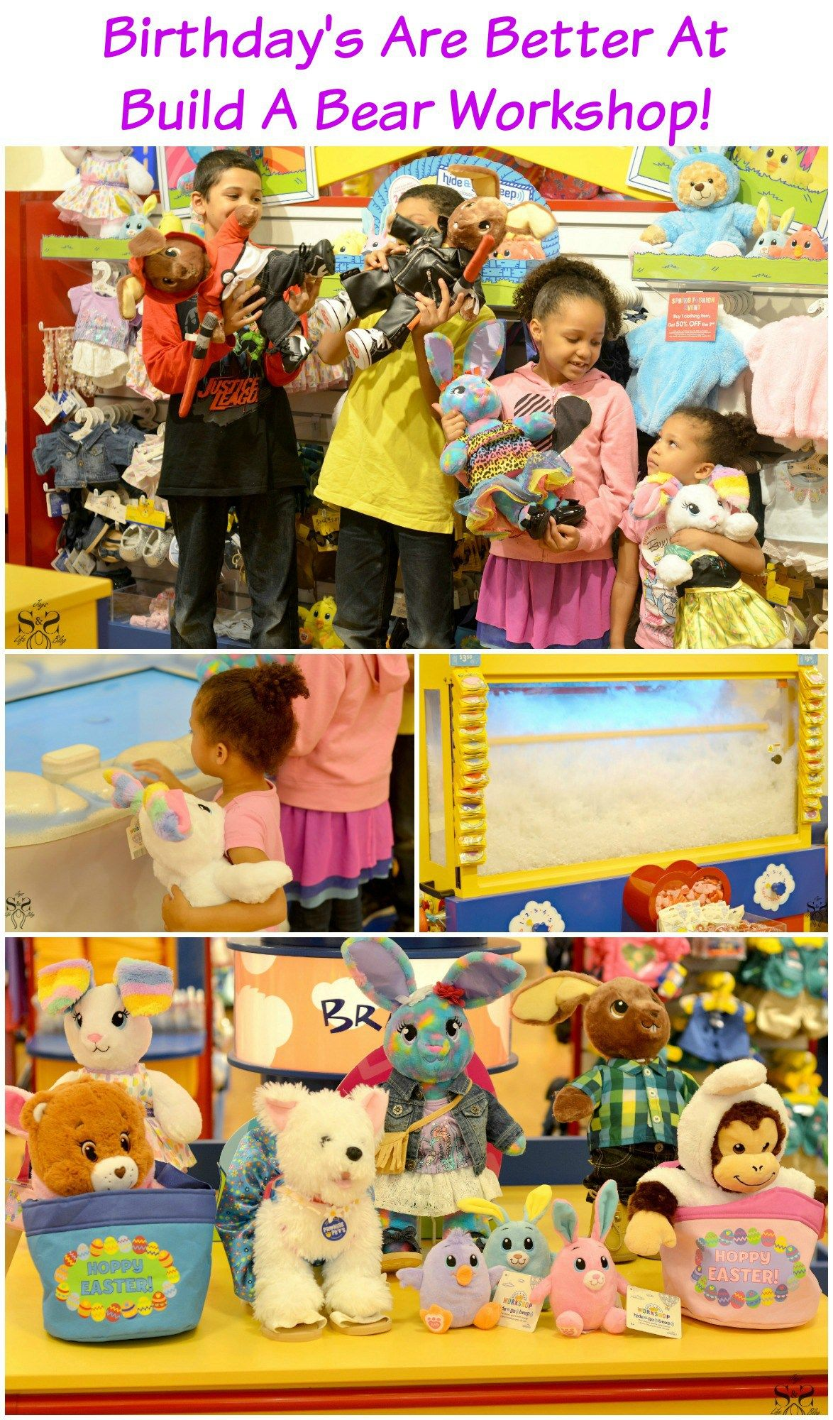 Birthdays Are Better At Build A Bear Workshop Build A Bear Birthday Build A Bear Party Bear Birthday Party
