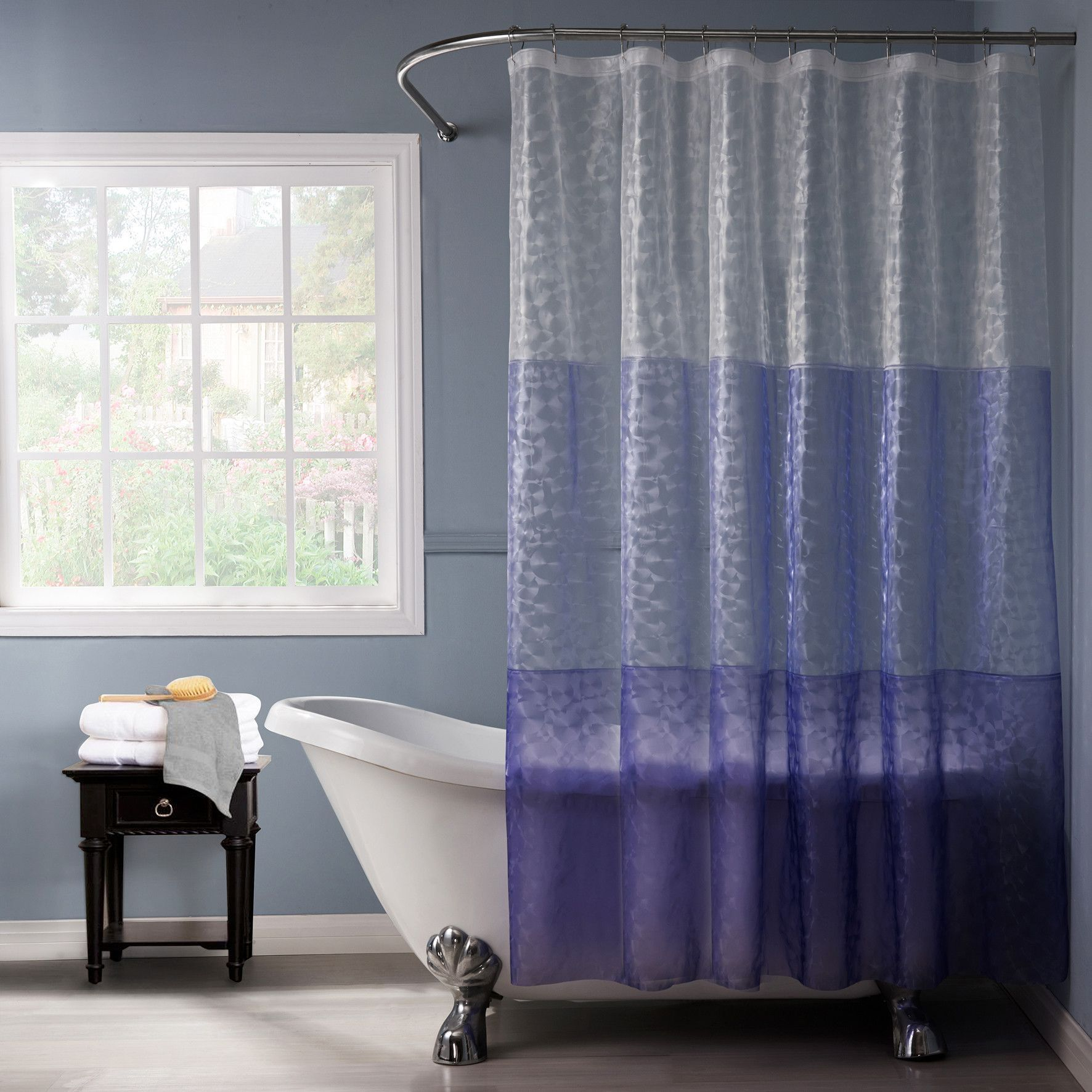 Sledmere House Of Hampton Single Shower Curtain Shower Mildew Curtains Bathroom Colorful Curtains