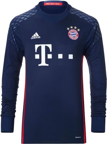 Bayern München 16-17 Goalkeeper Kit Dark Blue Jersey  a Germany ... cb1b63646