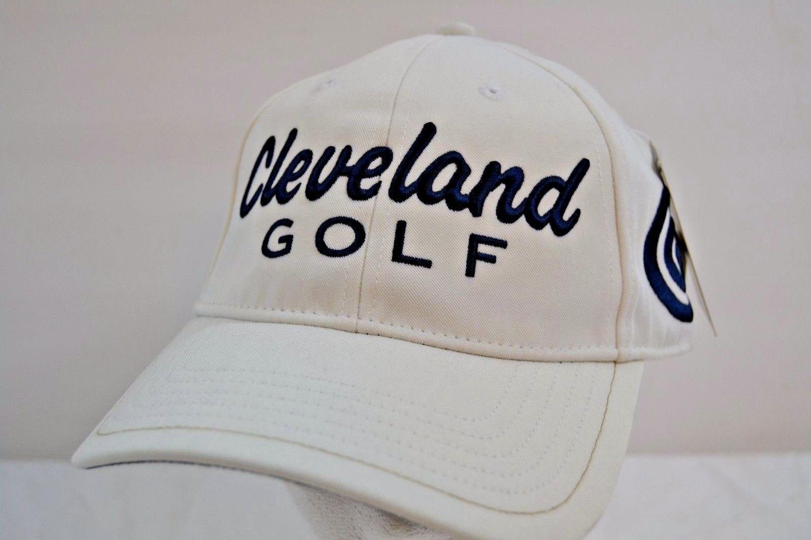 Cleveland Golf Tour Fit Mesh White Black Baseball Cap NWT Tour Fit L ... b0e0426b0eb8