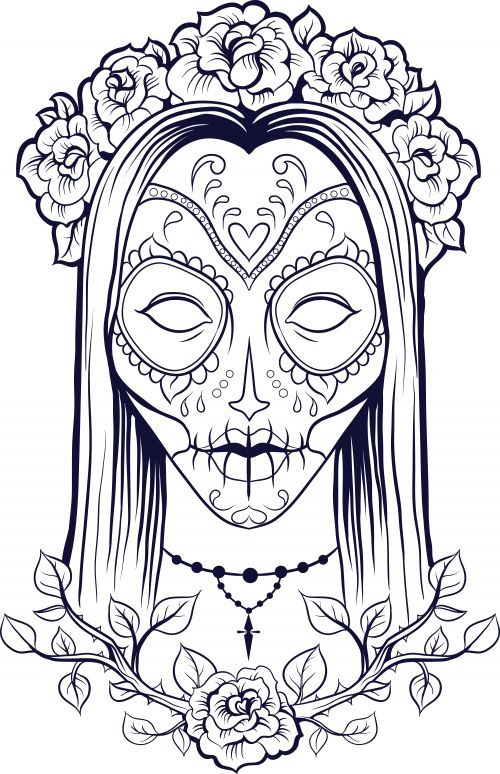 Complicated Coloring Pages For Adults Free To Print Skull Coloring Pages Halloween Coloring Pages Printable Coloring Pages
