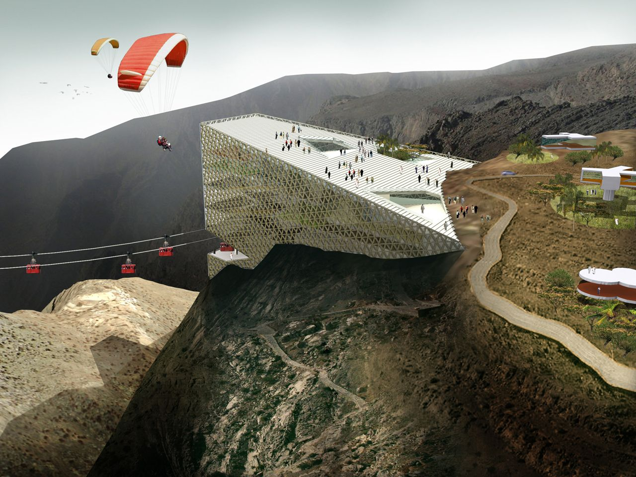 Resort architecture mountain architecture koolhaas oma for Mountain lodge architecture