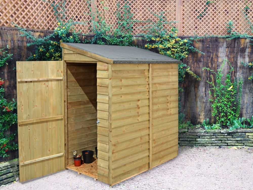 our compact 6x3 overlap wall shed is ideal for locating in alleyways or narrow spaces - Garden Sheds 6 X 3