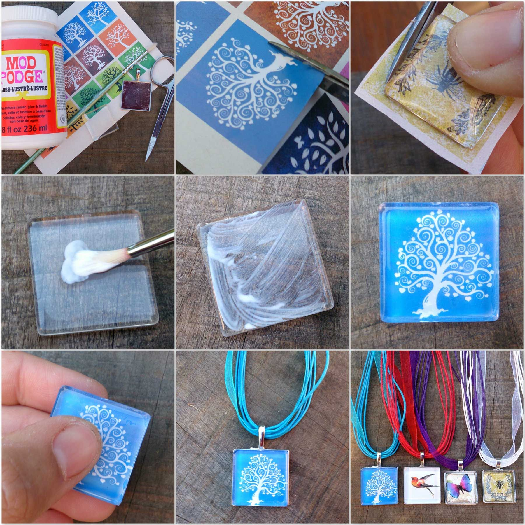 How to make a glass tile pendant using mod podge tutorial jewelery how to make a glass tile pendant using mod podge tutorial aloadofball Image collections