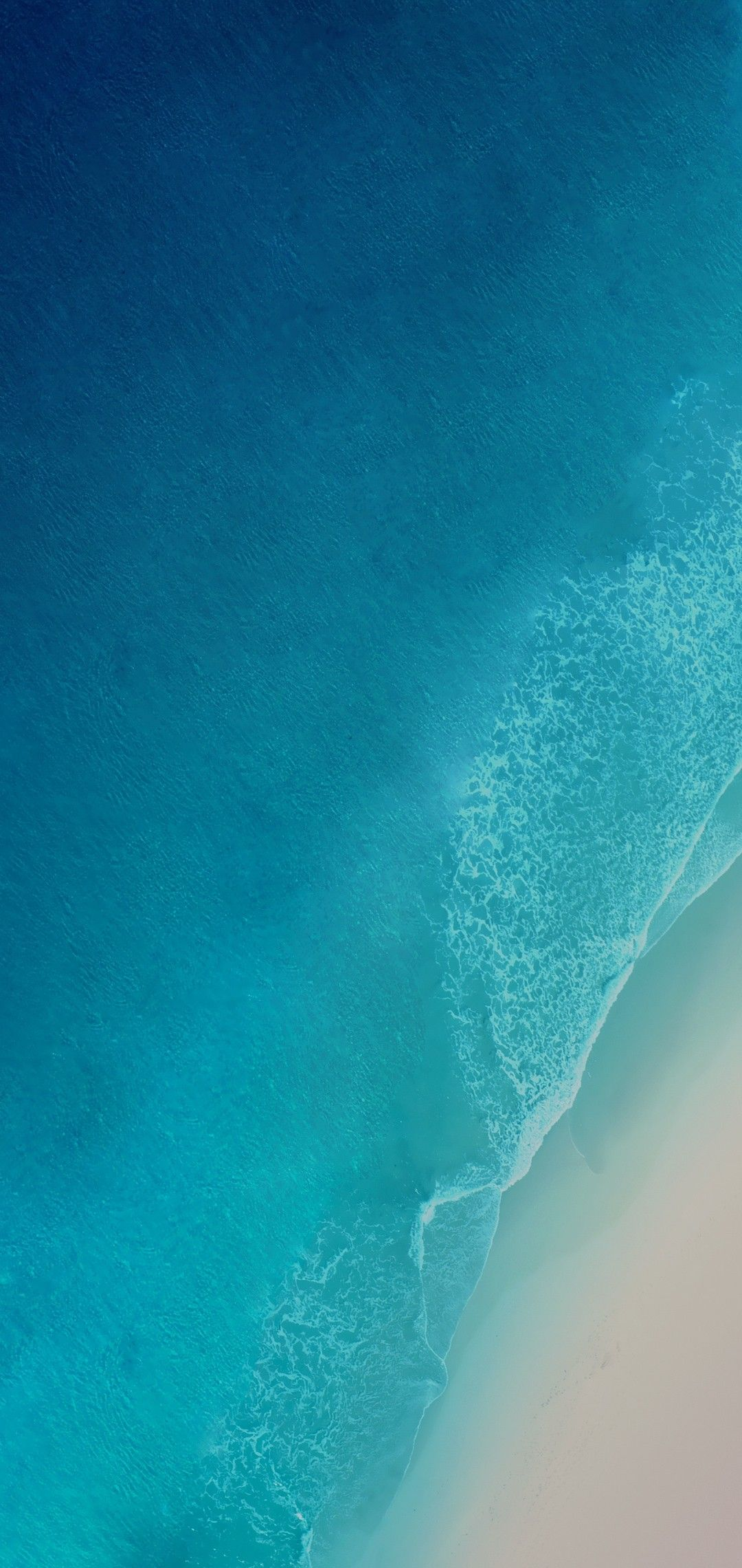 Ios  Iphone X Aqua Blue Water Ocean Apple Wallpaper Iphone  Clean Beauty Colour Ios Minimal