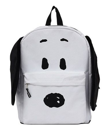 bb6f13f172 Look what I found on  zulily! Black   White Snoopy Backpack ...