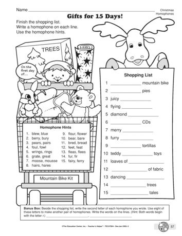This Christmas-themed language arts worksheet that reviews ...