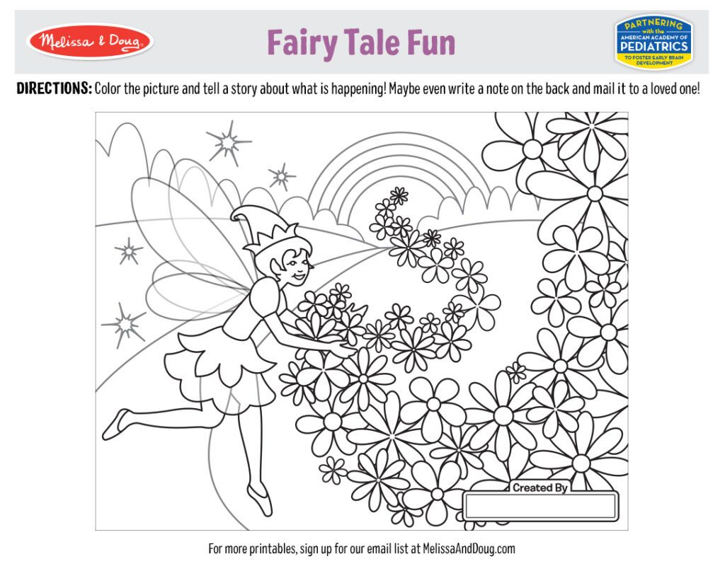 Fairy Tale Coloring Pages To Print