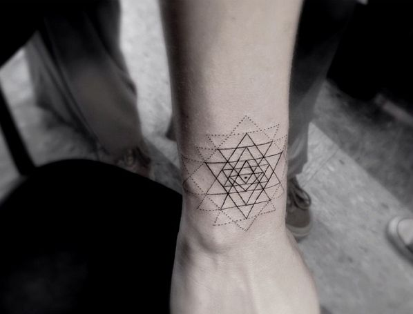 Dr Woo May Be The Coolest Tattoo Artist In Los Angeles Dr Woo Tattoo Geometry Tattoo Sacred Geometry Tattoo