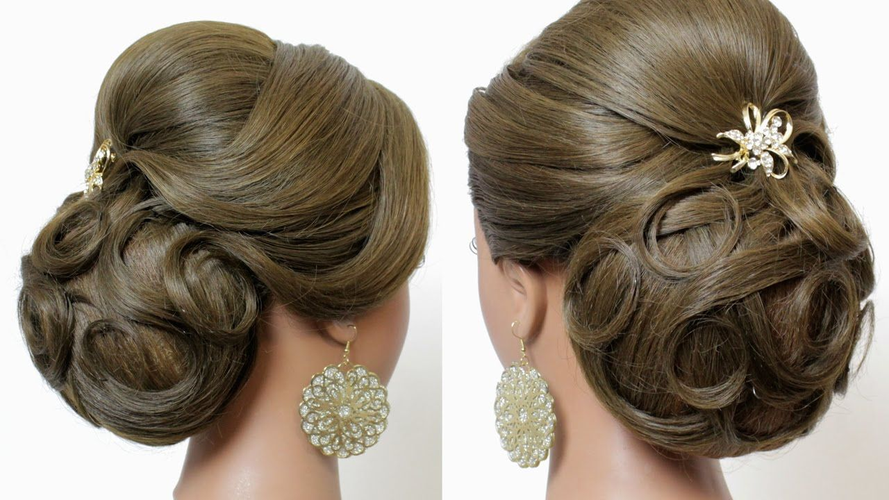 Indian wedding hairstyles tutorial bridal updo for long hair
