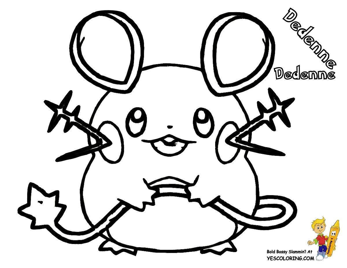 Pokemon Coloring Pages Dedenne Pokemon coloring pages