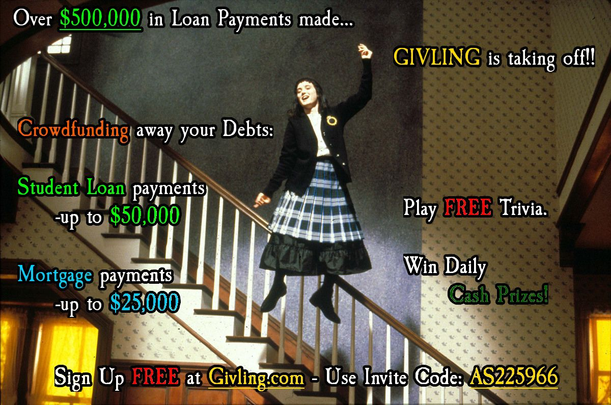 Shake Senora! Givling.com Invite Code: AS225966 #givlingcode #studentloans #mortgage #debt #trivia #beetlejuice #flying #ghosts #dancing #harrybelafonte #lydia