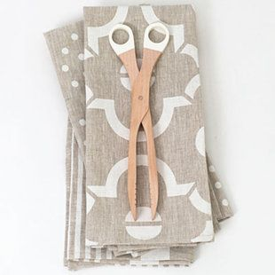 Linen tea towels that get softer and more absorbent with each wash.