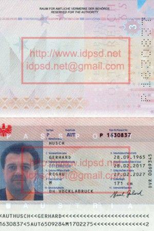 Austria Passport PSD 2017 | Passport PSD in 2019 ...