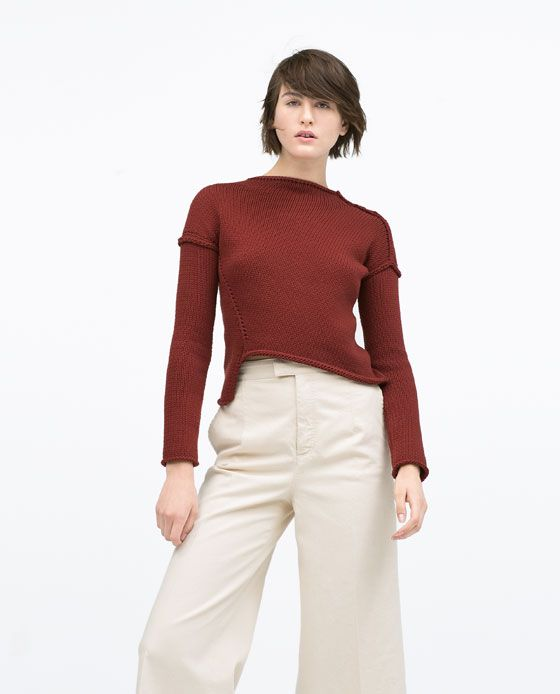 ZARA - WOMAN - DIAGONAL KNIT SWEATER