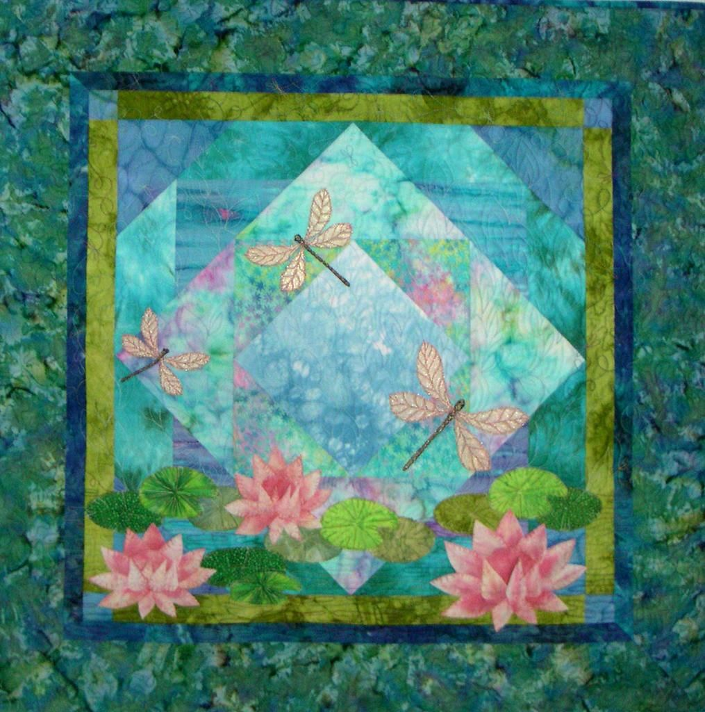 Quilting Designs For Water : NEW PATTERN TO MAKE DRAGONFLY WATER LILY ~ PIECED ...