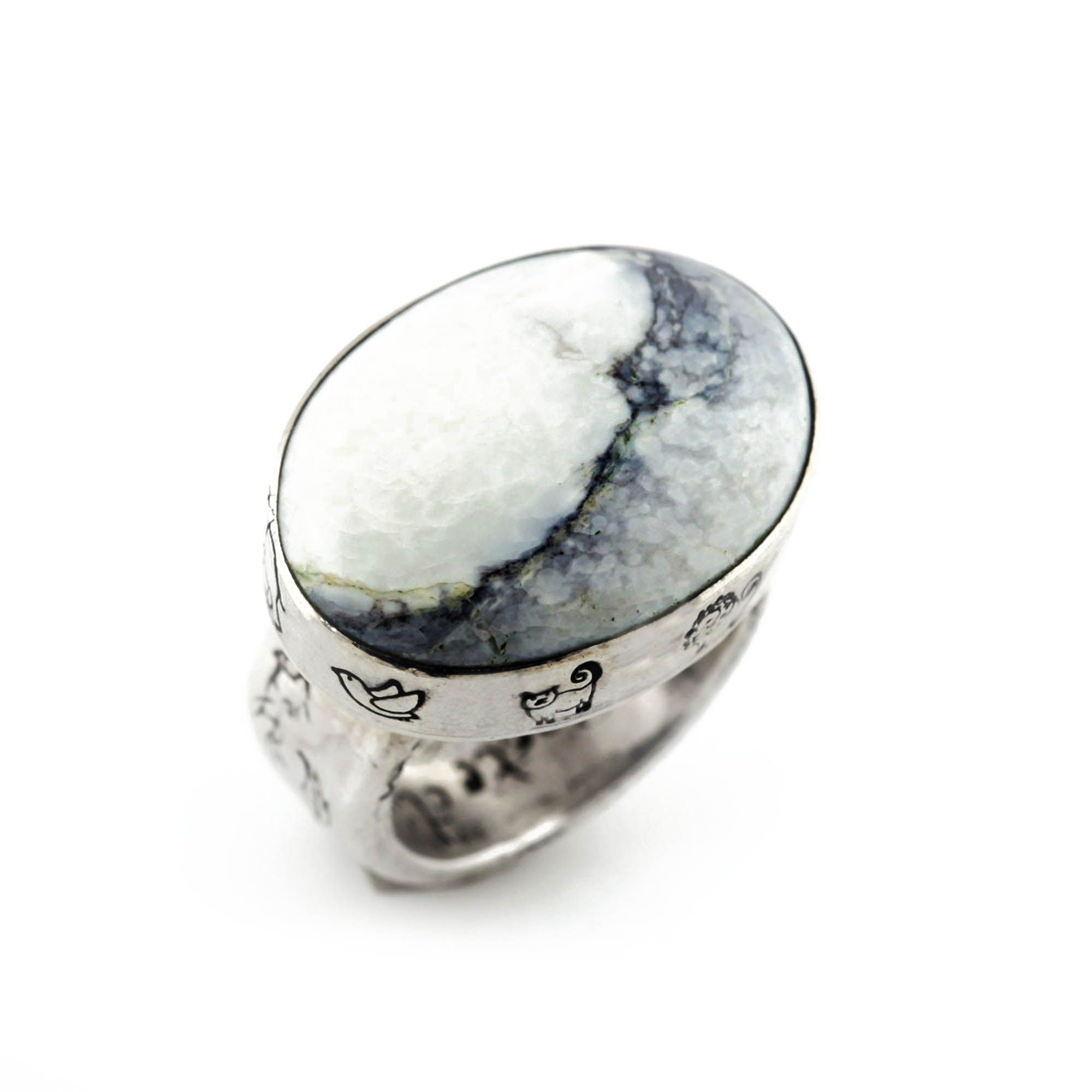 Love + Protection White Turquoise Ring   Jes MaHarry Jewelry