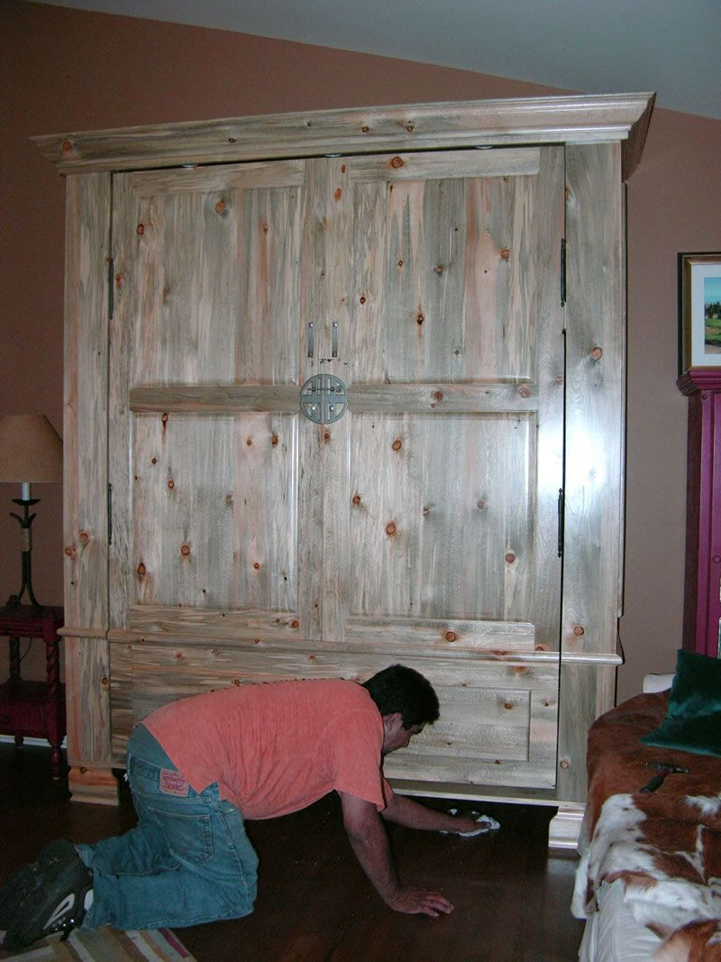 Beetle Kill Pine Murphy Bed Log Cabin Bedroom Furniture Rustic Murphy Beds