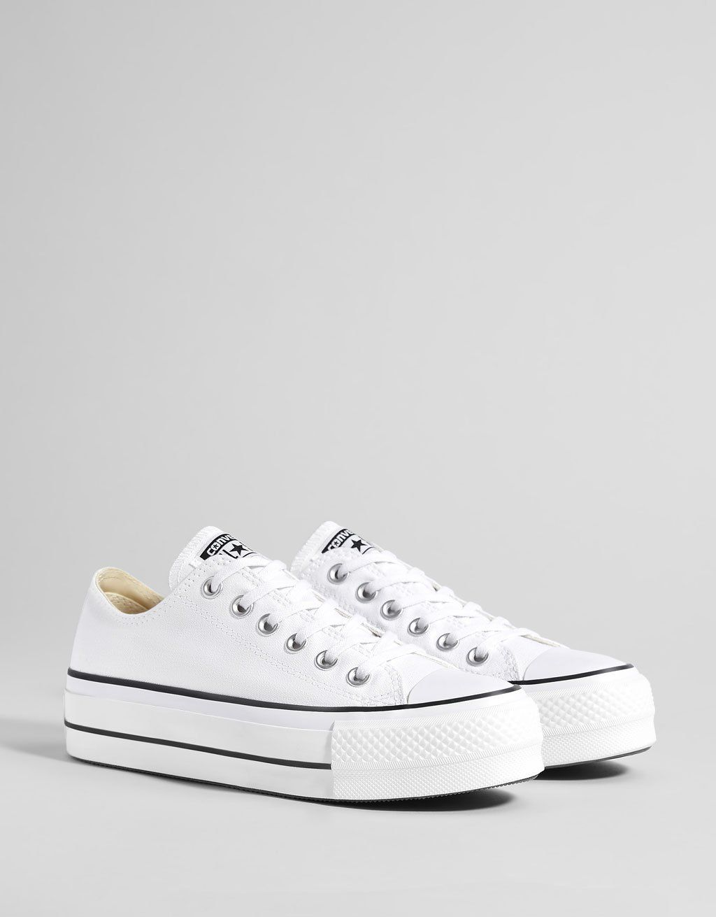 converse toile blanche femme