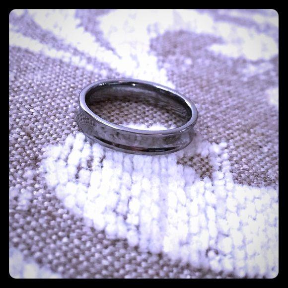 Tungsten ring- women's Very feminine small band tungsten ring JVL Jewelry Rings