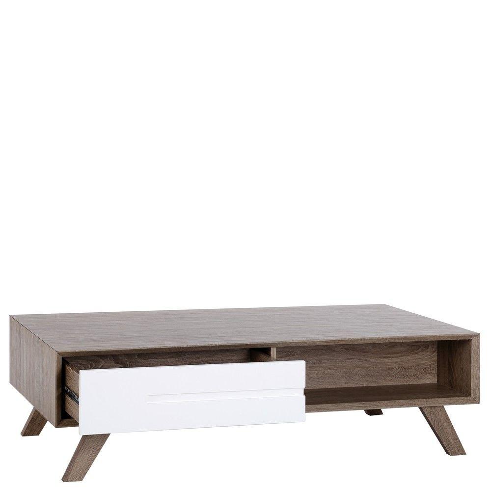 Mesa de centro minimalista blanca de madera para sal n - Mesas de centro minimalistas ...