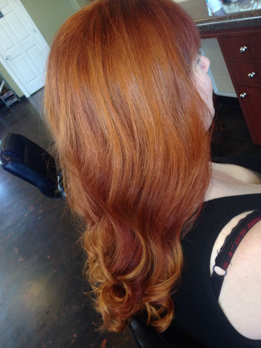 Copper Red hair with Blonde Balayage