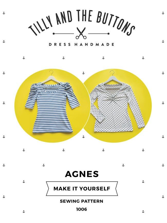 Tilly And The Buttons Agnes Top Pattern | Wunschlisten ...