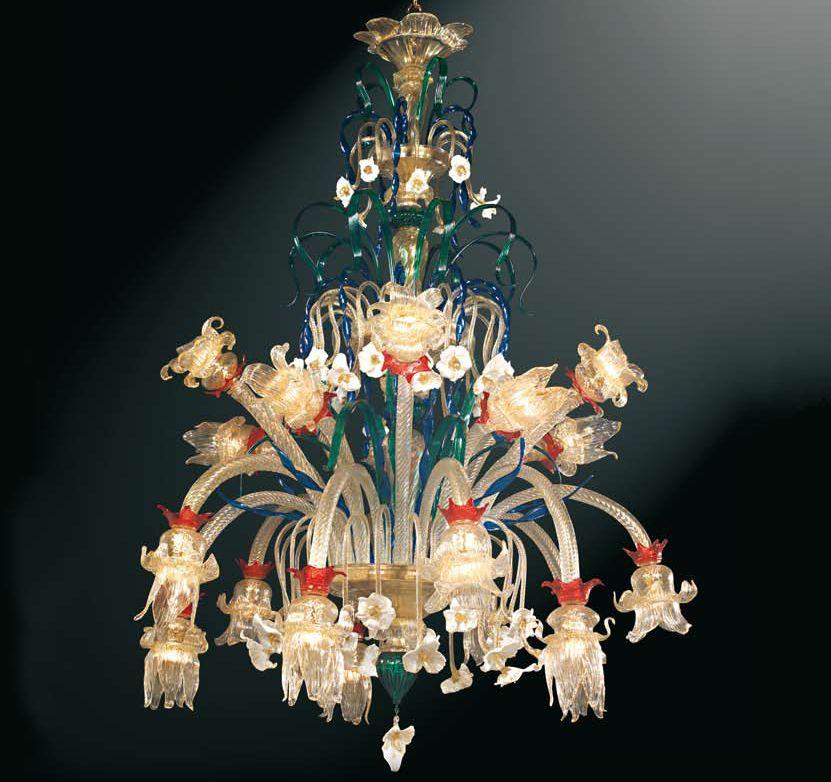 lampadario vetro murano. Lampadario classico in vetro