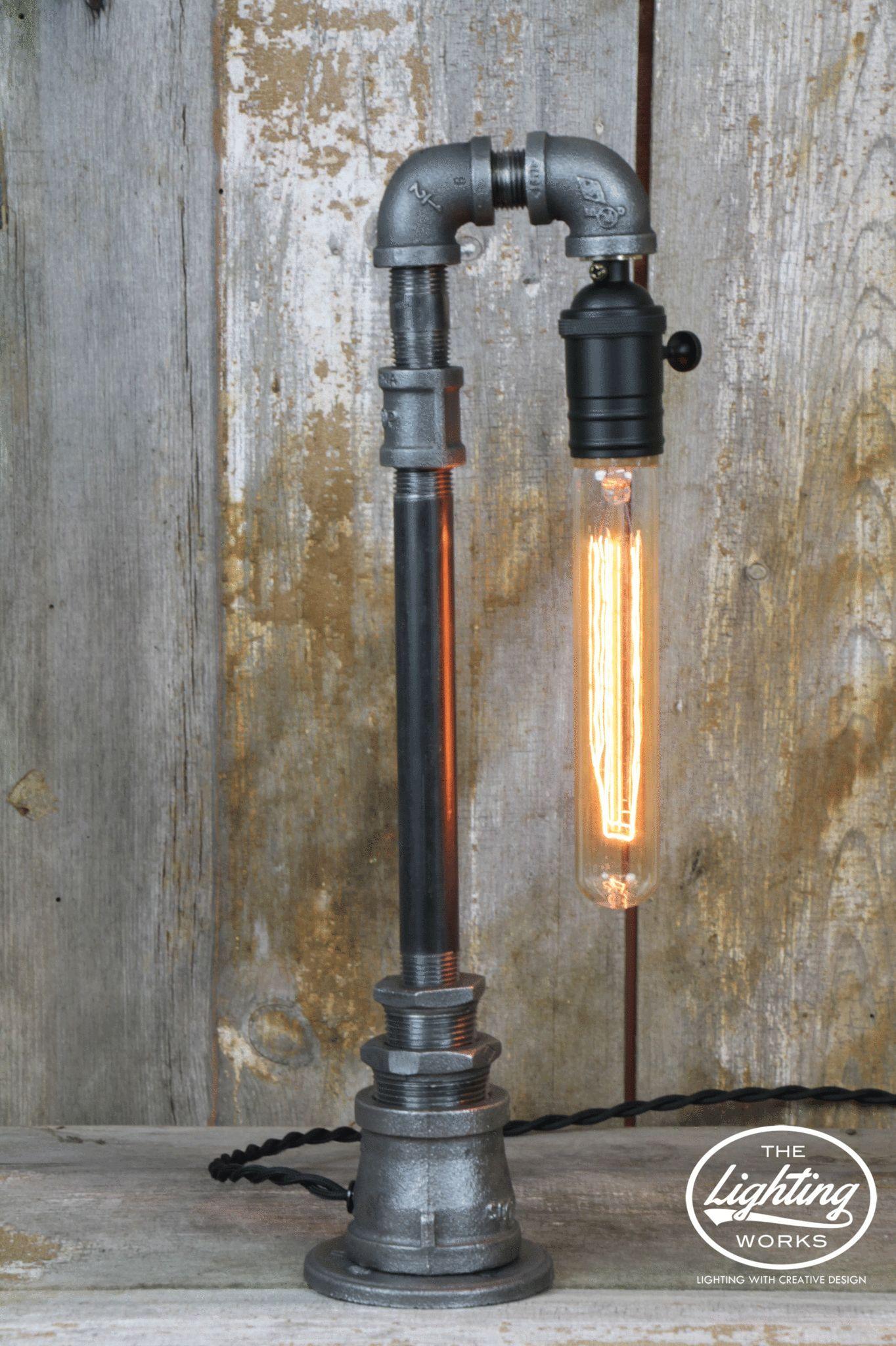 industrial lighting diy. Steampunk Table Lamp With A Sleek Industrial Design Lighting Diy