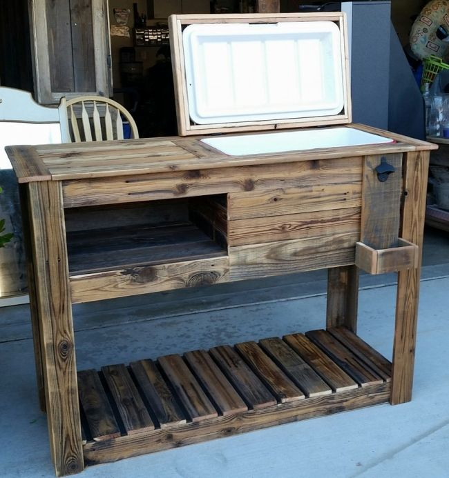 Upcycled Rustic Custom Wood Coolers Wood Cooler Diy