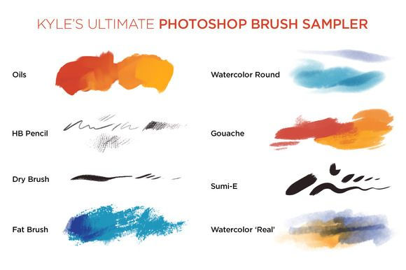 200 Photoshop Brushes Manipulacao Watercolor Brushes Art