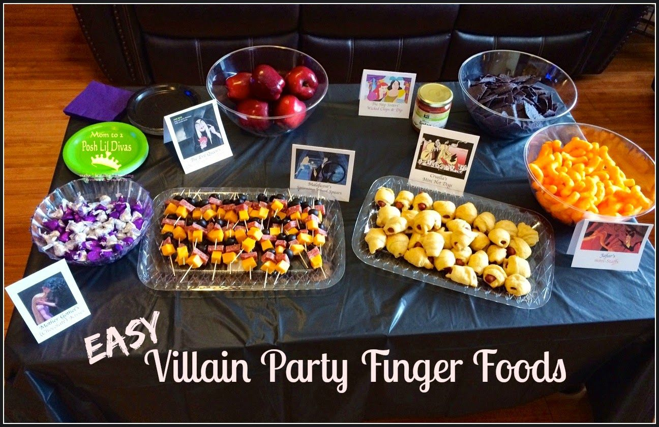 easy & fun Villain Party finger foods | Disney Villains Party ...