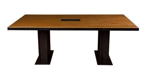 The Dovetail Conference Table Made From Original Bowling Lane Slab - Target conference table