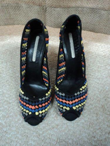 Gorgeous Stella McCartney Multicolor Peep Toe Pumps