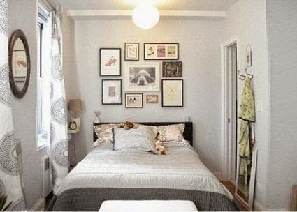 Fresh Maybe a mirror above the bed to take advantage of light and create space Small Bedroom Ideas 10 Inspiring Bedrooms Stylish Despite Their Small Space Pictures - Lovely small apartment bedroom ideas Photos