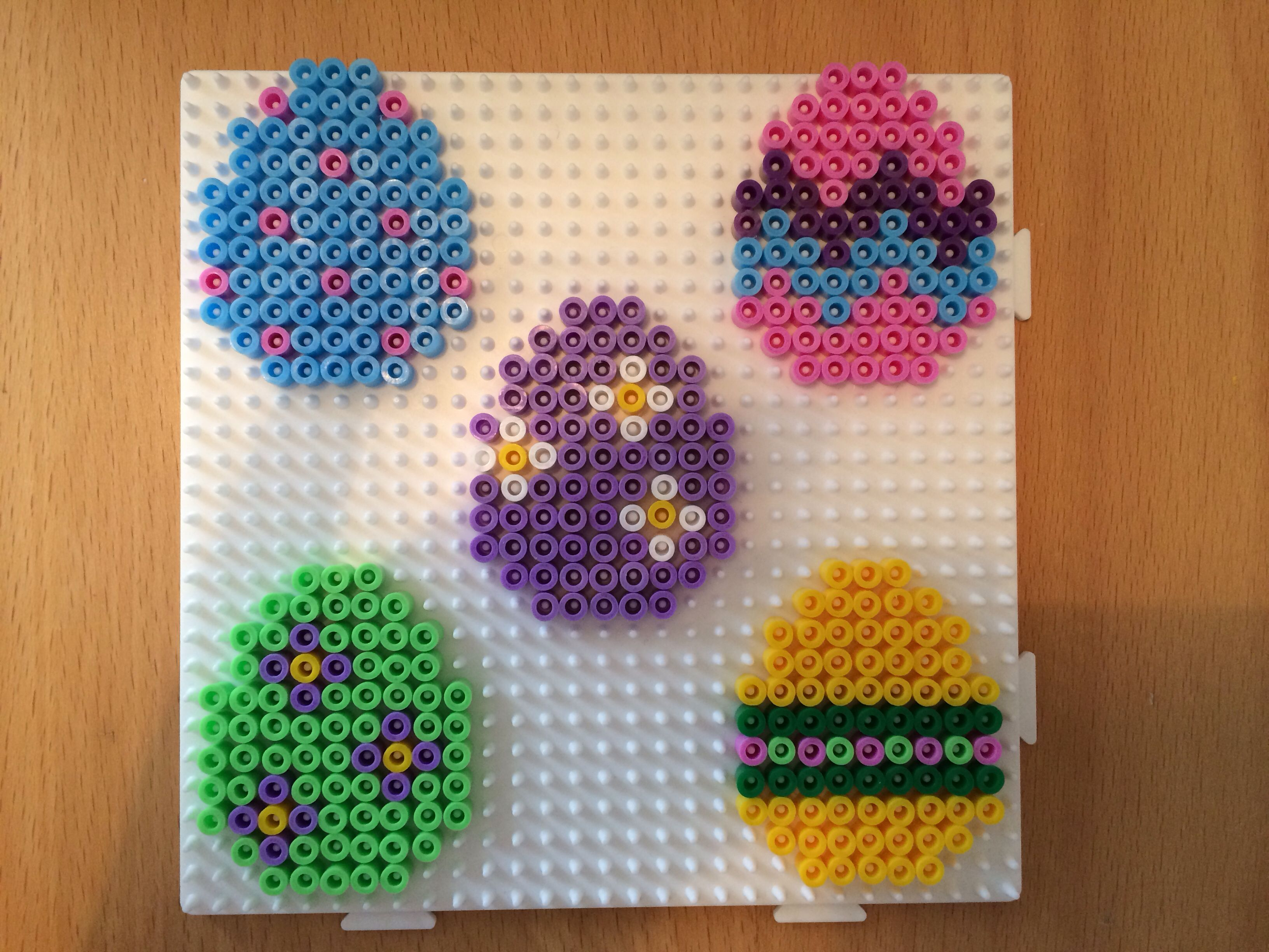 Easter eggs hama perler beads by Susse Cevin | Easter Perler Beads ...