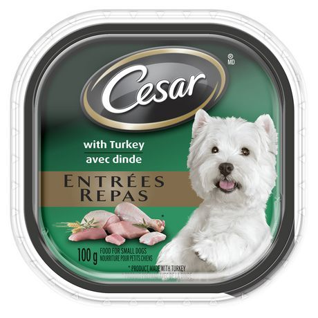 Cesar Entr Es With Turkey 100g 100g Wet Dog Food Lamb Pork