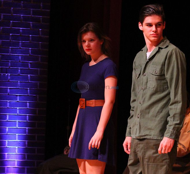 JJ VanDeventer, left, and Will Lively face the harsh realities of war in Robert E. Lee Theatre's