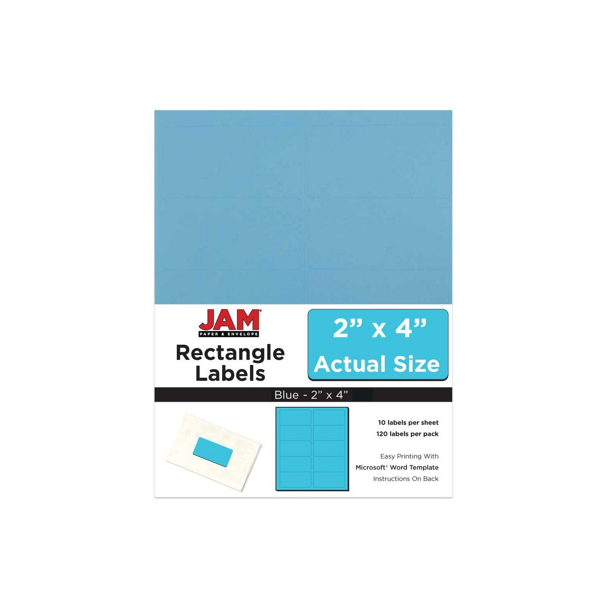 jam paper mailing labels 2 x 4 120ct blue mailing labels and