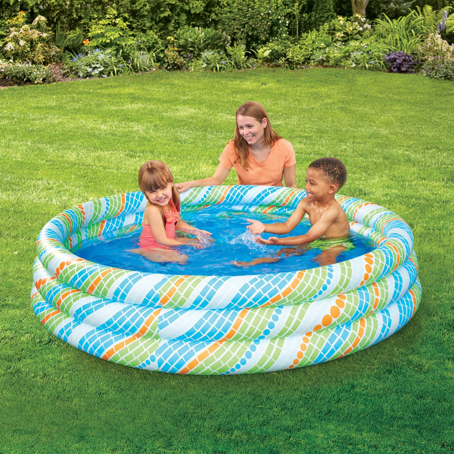 Play Day Deluxe Family Pool Family Pool Inflatable Pool Kiddie